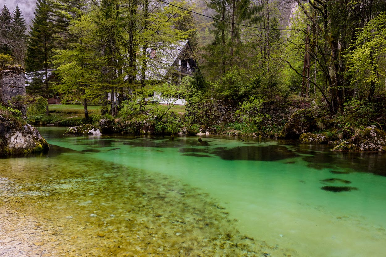 Fishing places in Bohinj