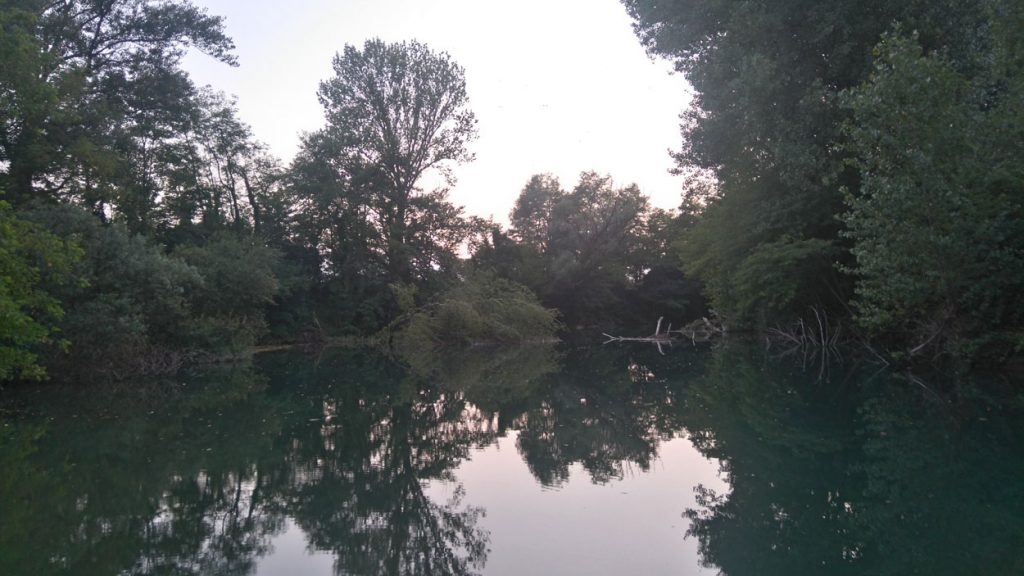 Fishing place in Vipava, Slovenia