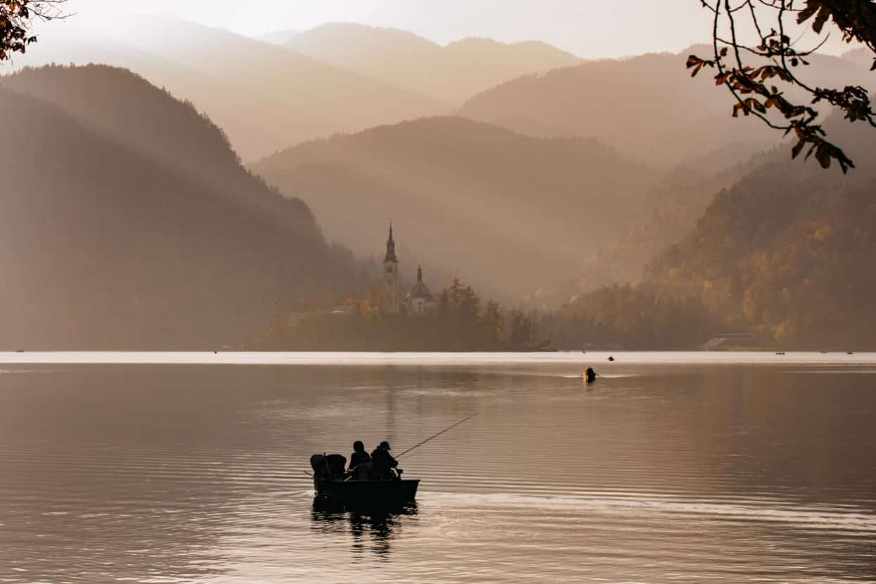 Spin Fishing at Lake Bled in Slovenia